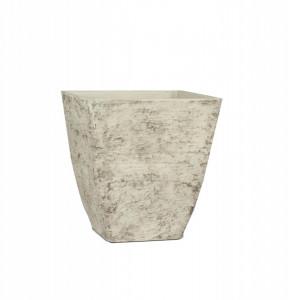 Ghiveci de plastic pentru exterior, crem, 32.5x34.5 cm
