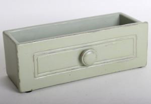 Ghiveci piatra, model sertar, verde, dimensiune 22x10 cm