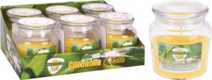 Lumanare Citronella in borcan sticla, 10x11 cm