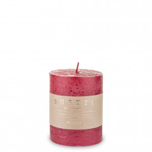 Lumanare handmade, Rustic, rosu, 10x7 cm