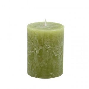 Lumanare, verde, 7x9 cm