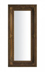 Oglinda de perete, lemn, maro, 65x145x6 cm