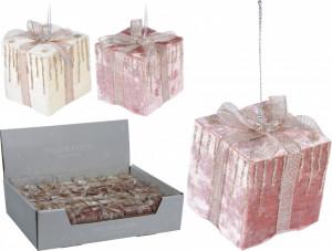 Ornament cu agatatoare, cadou roz, catifea