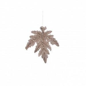 Ornament frunza aurie, 6,5x2x7 cm