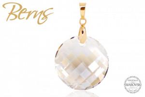 Pandativ, cristale Swarovski, forma rotunda, alb