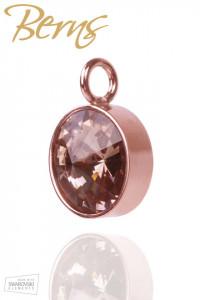 Pandativ, cristale Swarovski, margine roz