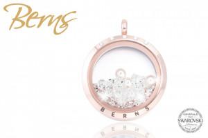 Pandativ, cristale Swarovski + perla, rosegold