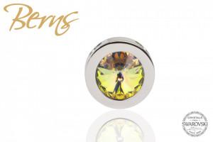 Pandativ Swarovski, cristal galben, cu reflexii