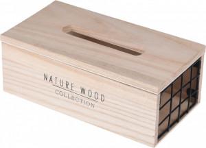 Suport de servetele, lemn, laterala metal