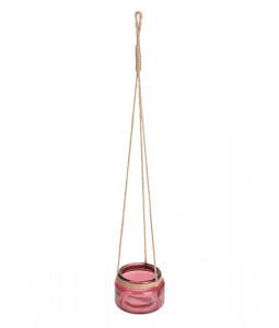 Vas de sticla, cu agatatoare, dimensiune 10x7 cm