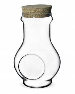 Vas de sticla, terariu, capac de pluta, 30x15 cm