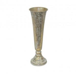 Vaza metalica aurie, 49 cm