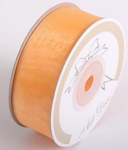 Banda organza, oranj, 25mm x 25m