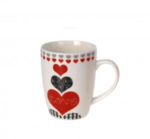 Cana ceramica, alba cu mesaj Love , 300 ml