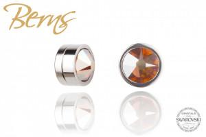 Cercei, cristale Swarovski cu magnet, oranj