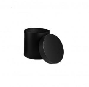 Cutie cilindru negru mat, 15x15 cm