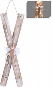 Decoratiune, schiuri natur, 20LED, 60cm