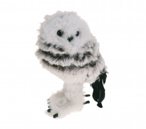Figurina, bufnita cu blana artificiala, 13 cm