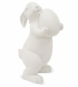Figurina ceramica, iepure cu ou, 29,5x17,5x14 cm