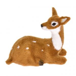 Figurina textila, caprioara, 9.5x4x7 cm