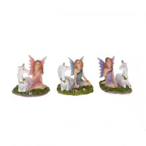 Figurina, zana cu unicorn, 3.5 cm
