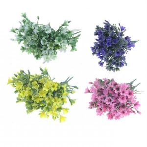 Floare artificiala, buchet campanula, color, 14 cm