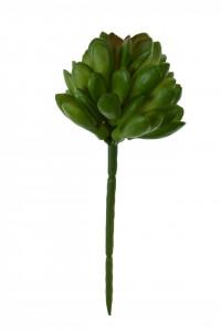 Floare artificiala, suculenta verde, 14x5 cm