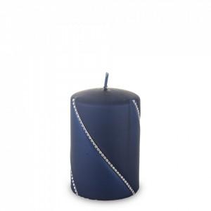 Lumanare cilindru, Bolero, navy blue, 10x7 cm