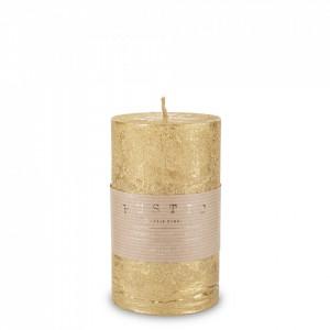 Lumanare handmade, auriu, 14 x 7 cm, Rustic