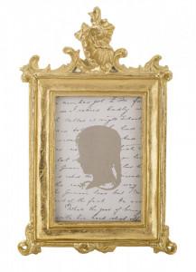 Rama foto, auriu antichizat, 16 x 10 cm
