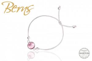 Bratara, cristal Swarovski, roz