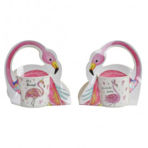 Cana portelan, Flamingo, 420ml