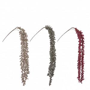 Creanga artificiala bobite, rosu/crem/auriu, 110 cm