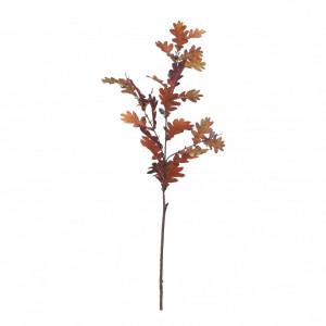 Creanga artificiala frunze stejar, maro, 116 cm