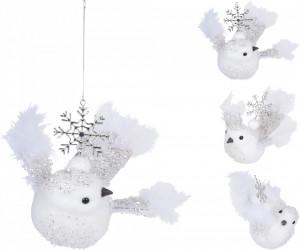 Decoratiune pasare cu agatatoare, 16 cm