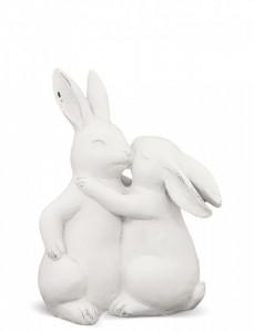 Figurina ceramica, iepurasi, 19x15x8 cm