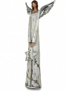 Figurina ceramica, inger, 41x17x7 cm