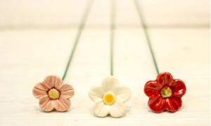 Floare ceramica Strawberry flower New