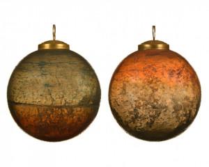 Glob de sticla, rosewood, 10 cm