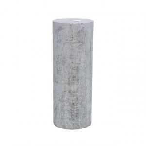 Lumanare, argintiu, 7x18 cm