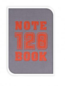 Notebook coperta gri, 14.8 cm