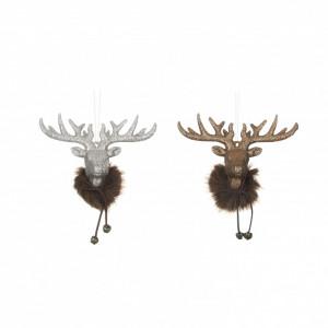 Ornament cap ren, maro, 6x2.5x4.5 cm