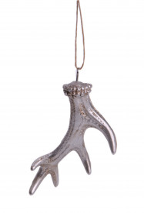 Ornament coarne de ren, cu agatatoare, 7.6x2x8.5 cm