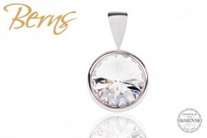 Pandantiv, cristal Swarovski, diametru 10 mm
