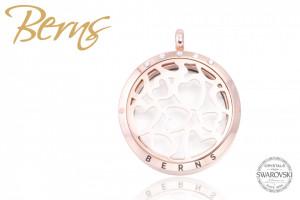 Pandativ aromaterapie, cristale Swarovski, model inima, rosegold