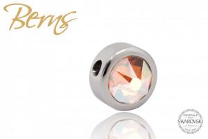 Pandativ, cristale Swarovski, margine argintie, oranj