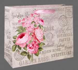 Punga de cadou, 23x18cm, Garden Rose