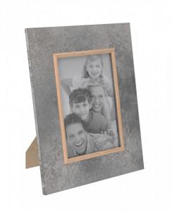 Rama foto, cadru MDF gri, 13 x 18 cm