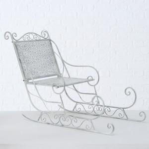 Sanie decorativa, metalica, gri, 60 cm inaltime