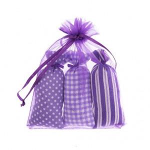 Set 3 saculeti textil, levantica, 10x3.5 cm